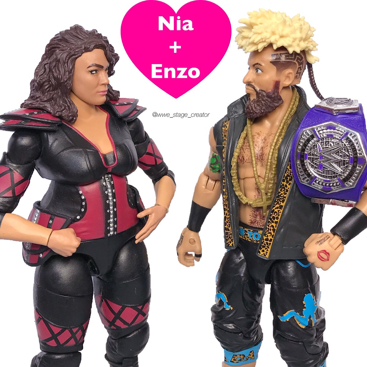 wwe stage creator on twitter what is going on with niajax and enzoamore wwe raw real1 niajaxwwe