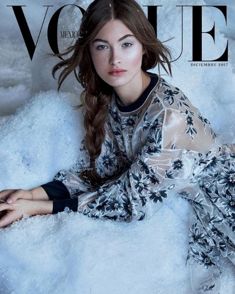 Grace Elisabeth in festive #FendiResort18 for @VogueMexico's December cover. Photographed by #patrickdemarchelier