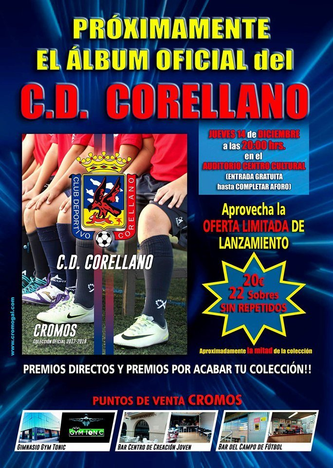 Desde La Banda - Fútbol Navarro | Cromos del Club Deportivo Corellano.