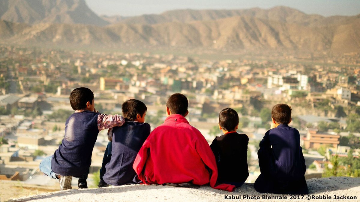 Picture of the Day: #Afghan children looking at #Kabul City from a hilltop – Photo by Robbie Jackson