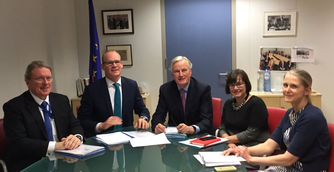 Michael Barnier reiterates: 'EU will fully support Ireland throughout #Brexit talks' as he meets Simon Coveney: https://t.co/K4W41dyMYI
