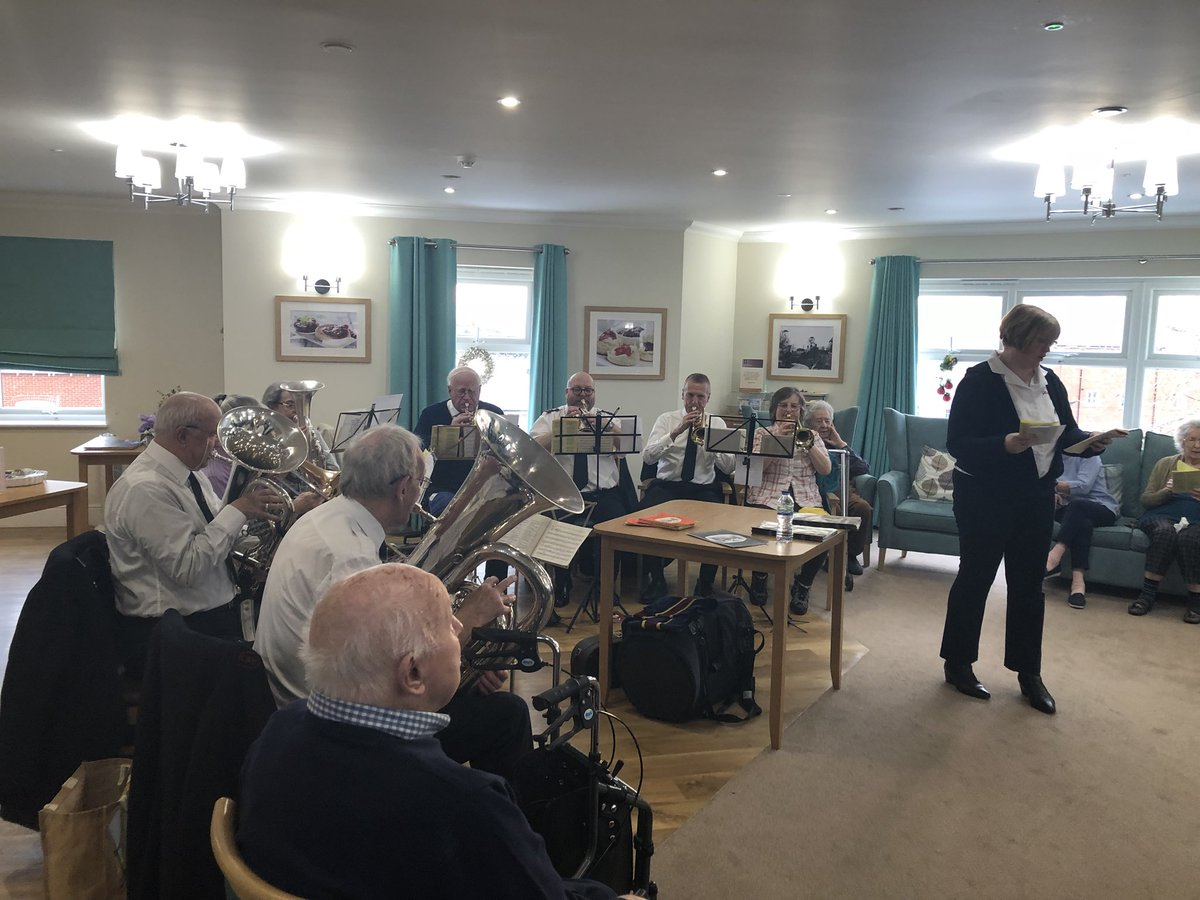 Buckingham Lodge On Twitter Salvation Army Band Visited Today To Entertain Our Residents Care Music Christmas Happyliving