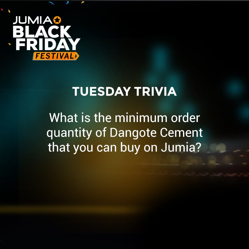 3 lucky fans get to win a surprise! Try our #TuesdayTrivia  RT and follow us to qualify  http:// ow.ly/h4hz30hb1wy  &nbsp;   #JumiaBlackFriday<br>http://pic.twitter.com/3DZ69lIdxm