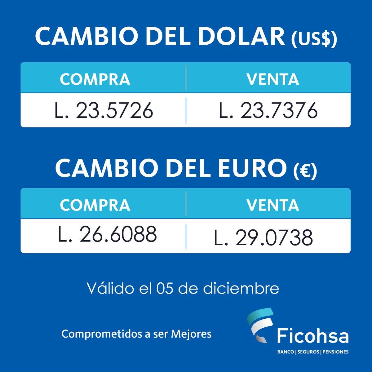 Ten C 10 On Twitter Este Es El Tipo De Cambio Del Dolar Y Euro Para Hoy Martes 12 Diciembre Gracias A Ficohsa