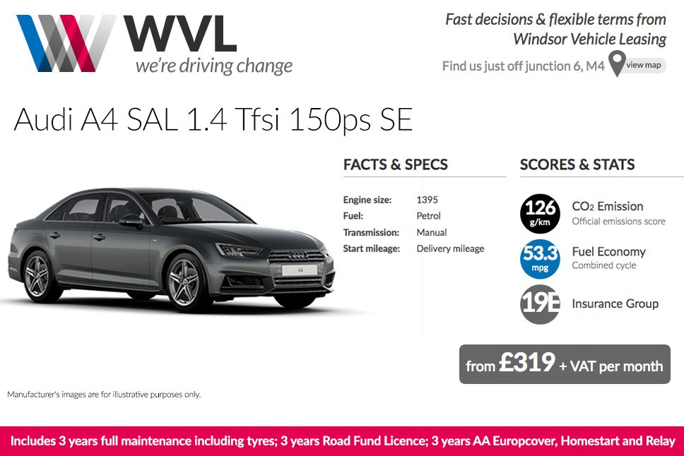 Audi A4 Lease >> Wvl On Twitter Audi A4 Lease High Spec Inc