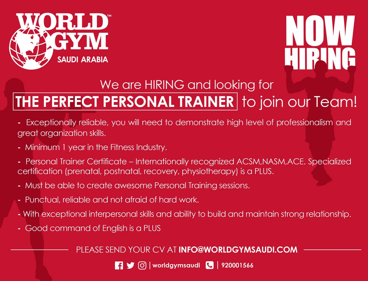 World Gym Saudi On Twitter For More Info Contact Us At Info