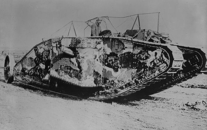 """@USArmyCMH  #TuesdayTrivia U.S. Army Center of Military History asks did you know: Tanks were initially called """"landships."""" However, in an attempt to disguise them as water storage tanks rather than as weapons, the British decided to code name them """"tanks."""" <br>http://pic.twitter.com/w325VHvmJ7"""