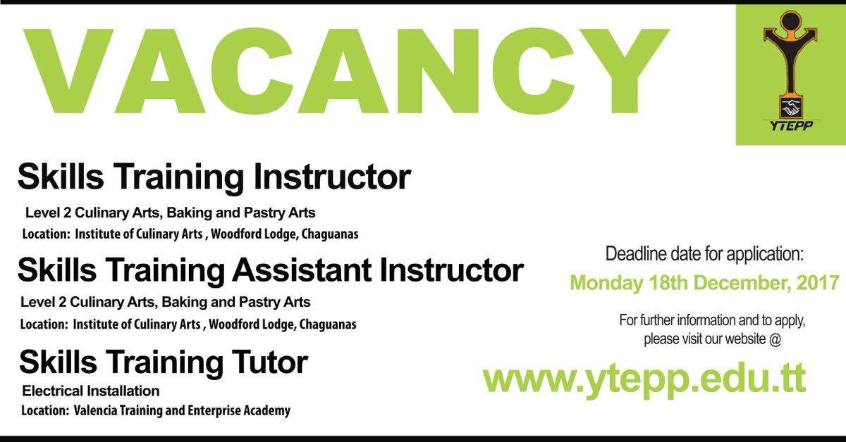 Ytepp On Twitter Were Looking For Instructors In Culinary Arts - Culinary-instructor-cover-letter