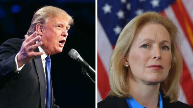 """Trump attacks Gillibrand: A Schumer """"flunky"""" who """"would do anything"""" for campaign contributions https://t.co/0UAkwm2udl"""