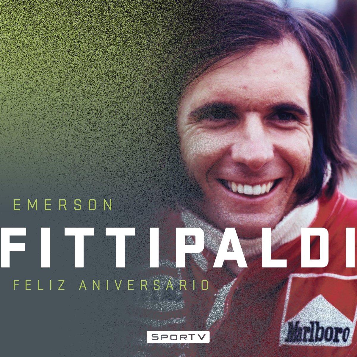 Hoje é aniversário de um dos pilotos mais vitoriosos do automobilismo nacional. Ele foi o primeiro brasileiro a se tornar campeão mundial de Fórmula 1! Parabéns #Fittipaldi71  Curta a #F1noSporTV!