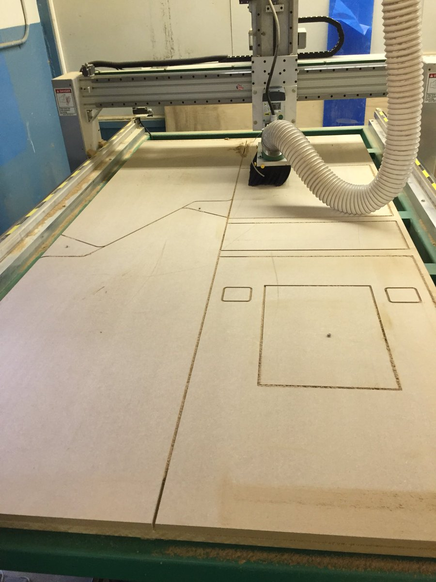 Career Center students drawing a full size model in CAD and using a CNC router to carve it out <a target='_blank' href='http://twitter.com/CharlesRandolp3'>@CharlesRandolp3</a> <a target='_blank' href='https://t.co/TEriGEUbau'>https://t.co/TEriGEUbau</a>