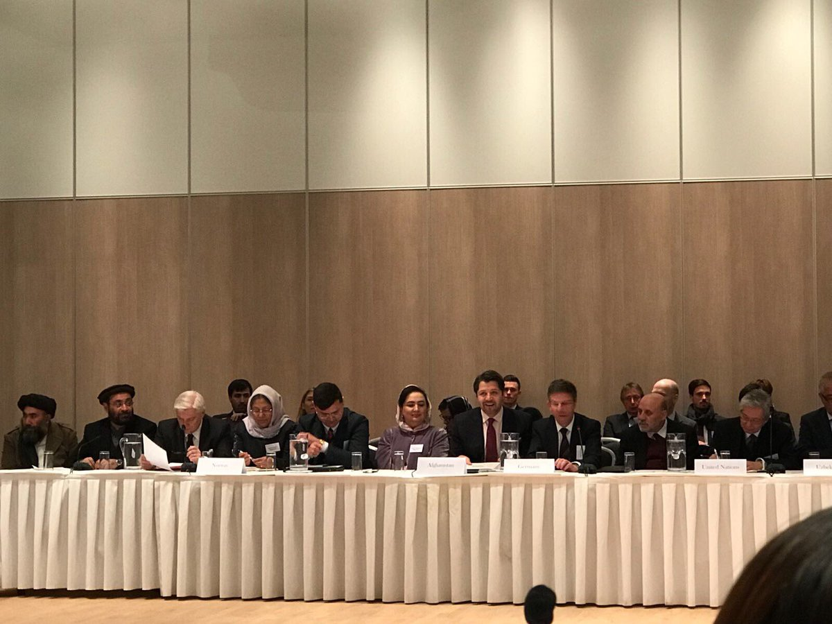 Norway hosts Intl Contact Group #Afghanistan: need elections, region coop, incentives for peace. Chaired by @HekmatKarzai, @MarkusPotzel