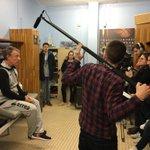 Nouveau tournage avec les étudiants du master @Euromedias de @univbourgogne .. et le kiné ! #Dijon