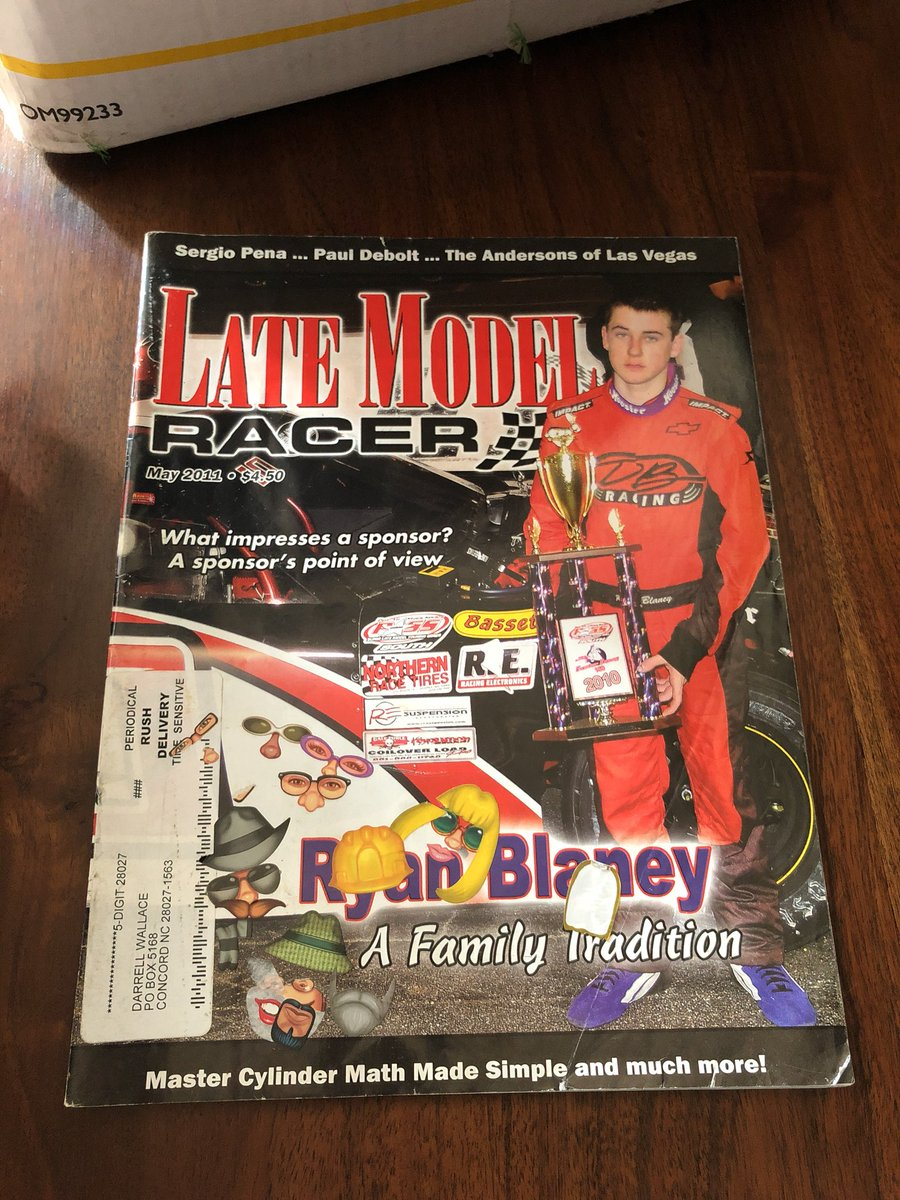 Hahahaha! Look what I stumbled across... Won the race, but looks like somebody stole your lunch money..😂 @Blaney