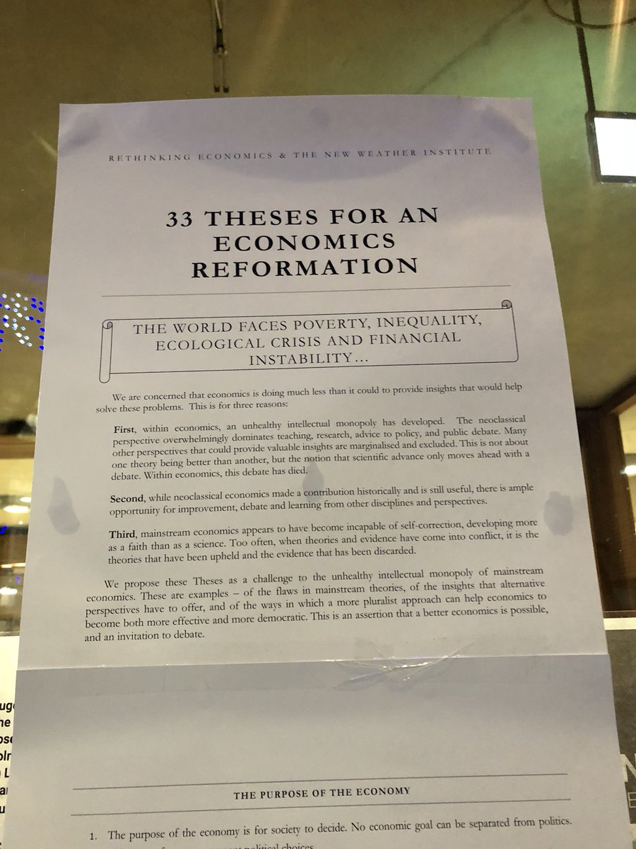 rethinking economics on the theses have been pinned  rethinking economics on the 33 theses have been pinned to the doors of the lse economicsreformation