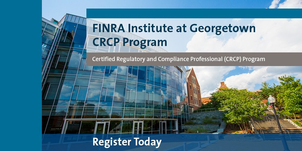 We&#39;re pleased to announce our new #CRCP academic partner starting in 2018: @Georgetown_exec and @msbgu to deliver the CRCP program. Registration is now open.  http:// bit.ly/2AuX49L  &nbsp;  <br>http://pic.twitter.com/yUaHKbmere