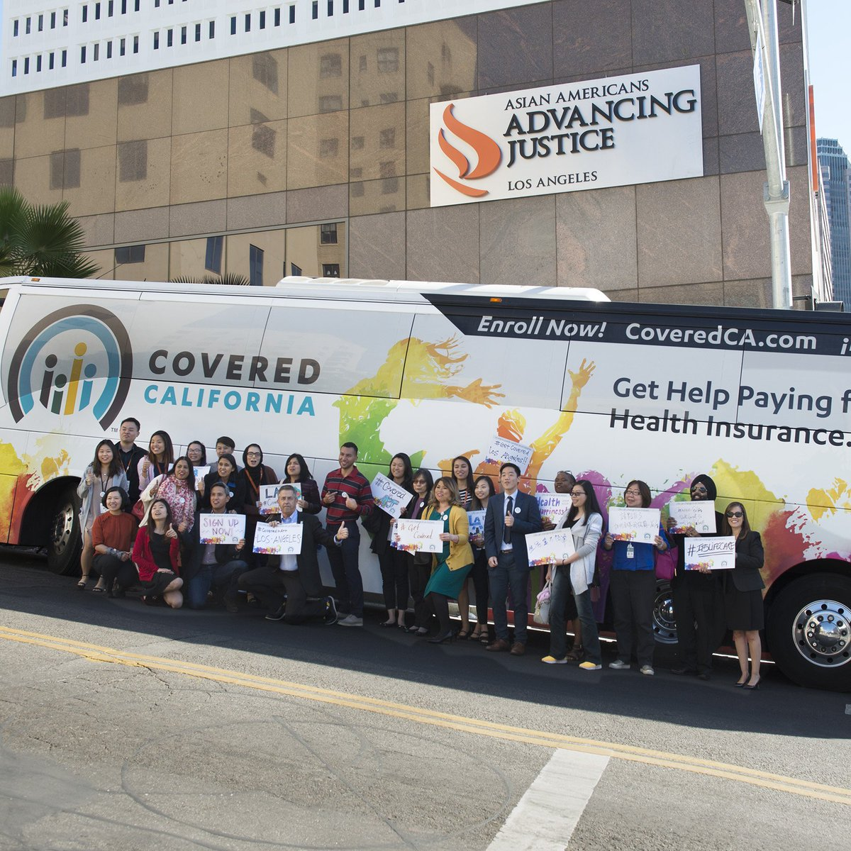 #CoveredCA kicked off its 8-stop bus tour at Asian American Advancing Justice in #LA. Thanks for your support, @AAAJ_LA!   Enroll by Dec. 15 for Jan. 1 coverage: https://t.co/4x3gfm9idL
