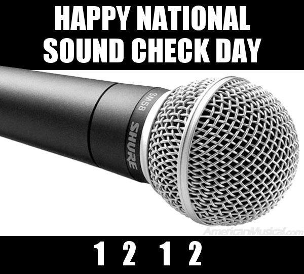 Happy international soundcheck day я работаю на форексе