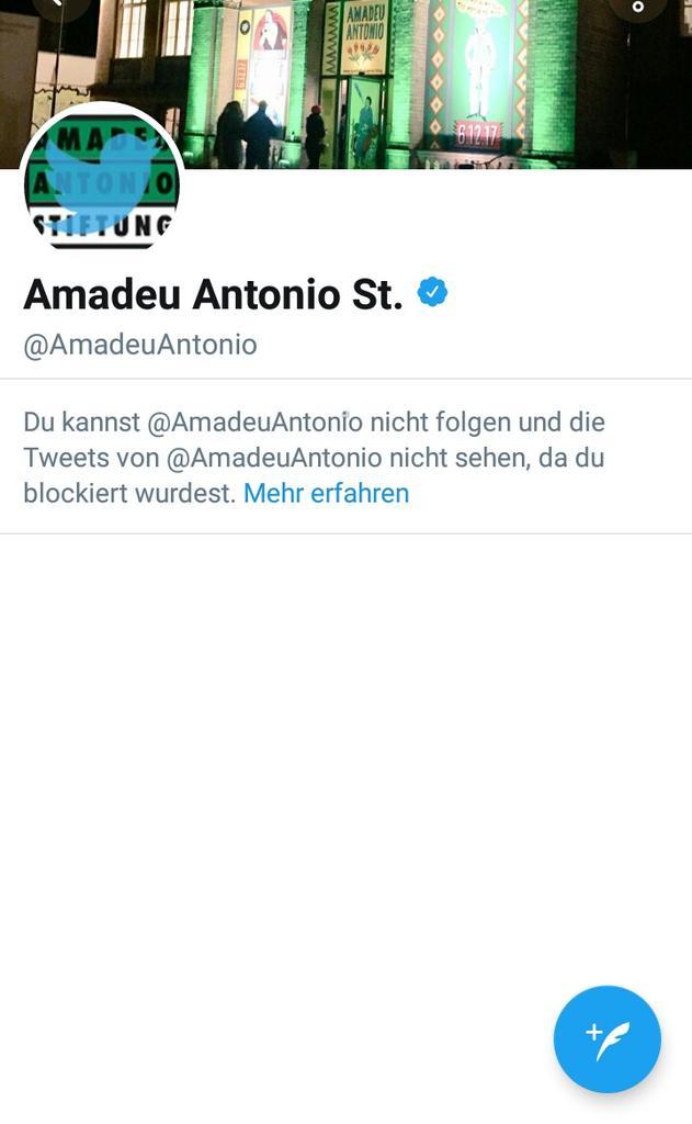 #amadeuantonio ...und soviel zur demokratischen Auseinandersetzung und kritikfähigkeit von @amadeuantonio https://t.co/44JUid4XEY