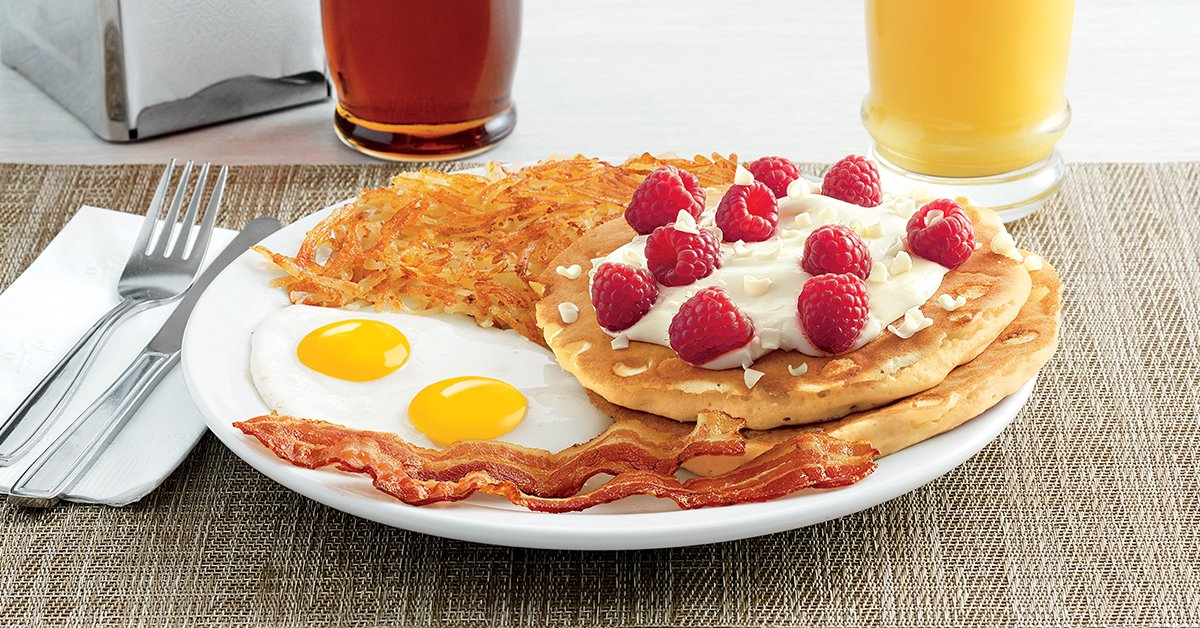 Denny S On Twitter White Chocolate Raspberry Pancakes Are A Miracle Well Maybe Not A Miracle But They Re Darn Delicious Impressive And Perfect For The Holiday Season Https T Co Frqgupoetv