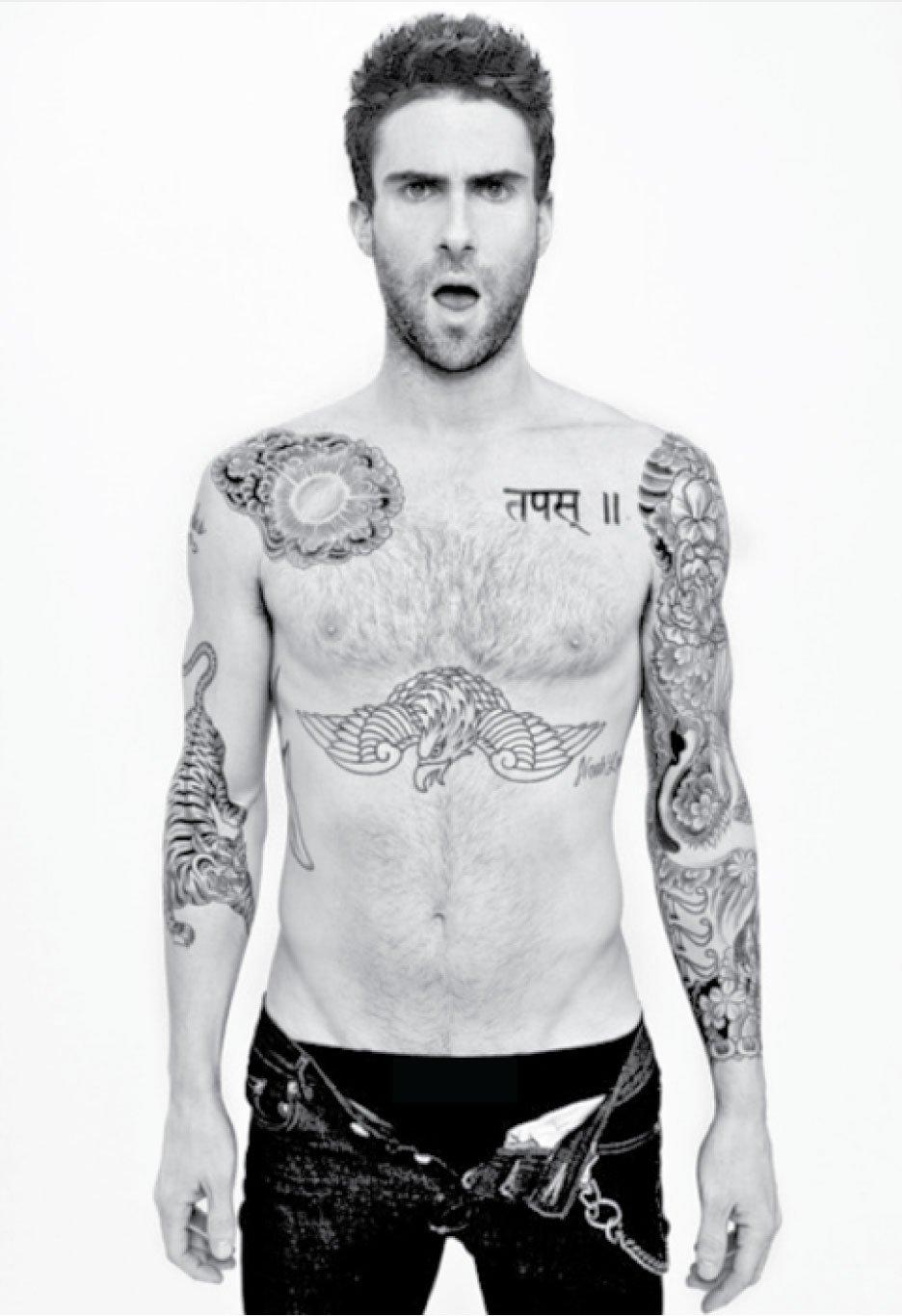 adam levine tattoos - 700×1021