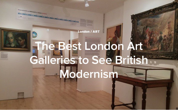 Thrilled to be featured in @CultureTrip's 'The Best London Art Galleries to see British Modernism' https://t.co/zO2oxg3QWK