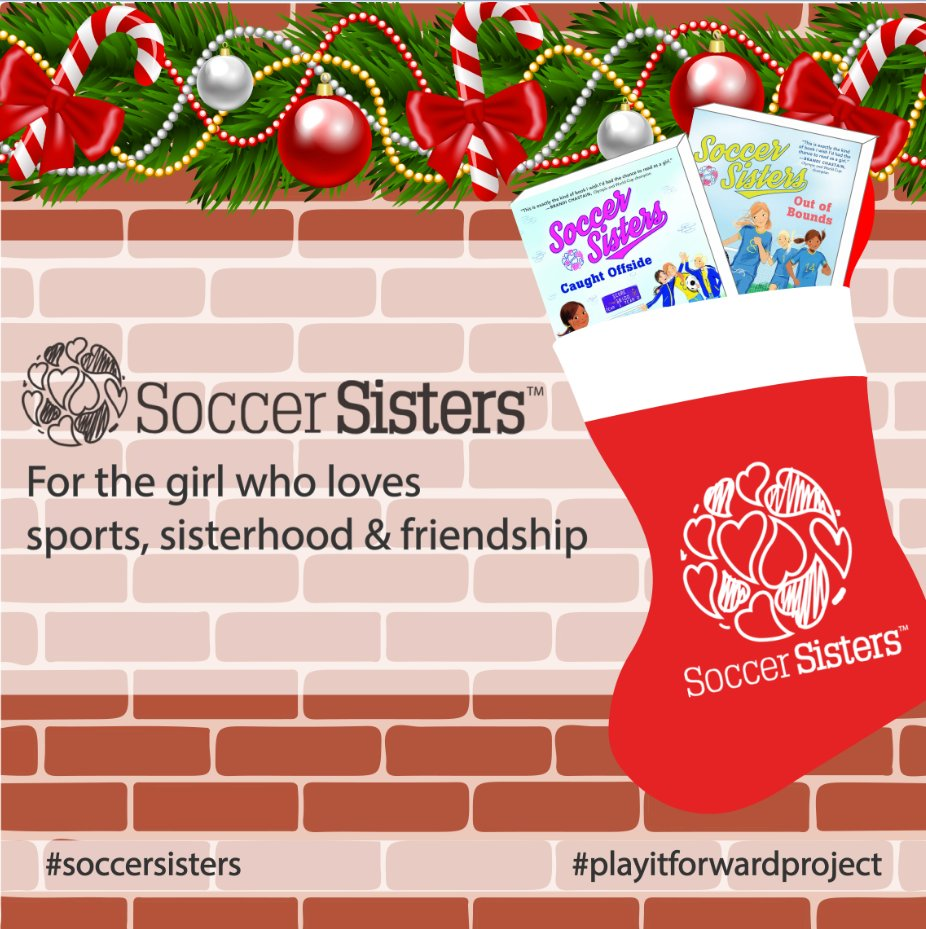 Still looking for last minute gifts? Not to worry, we've got just the thing. Soccer Sisters books make great stocking stuffers!  https://t.co/nACDB6pb3m  #soccersisters #playitforwardproject