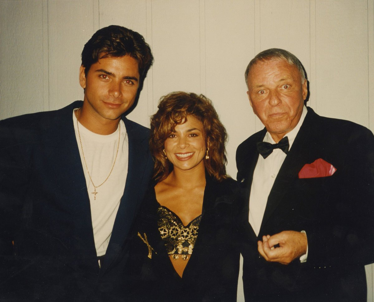 Happy Birthday @FrankSinatra  Here's an awesome #Throwback of Frank with @JohnStamos &amp; @PaulaAbdul <br>http://pic.twitter.com/w3uUAiej9z