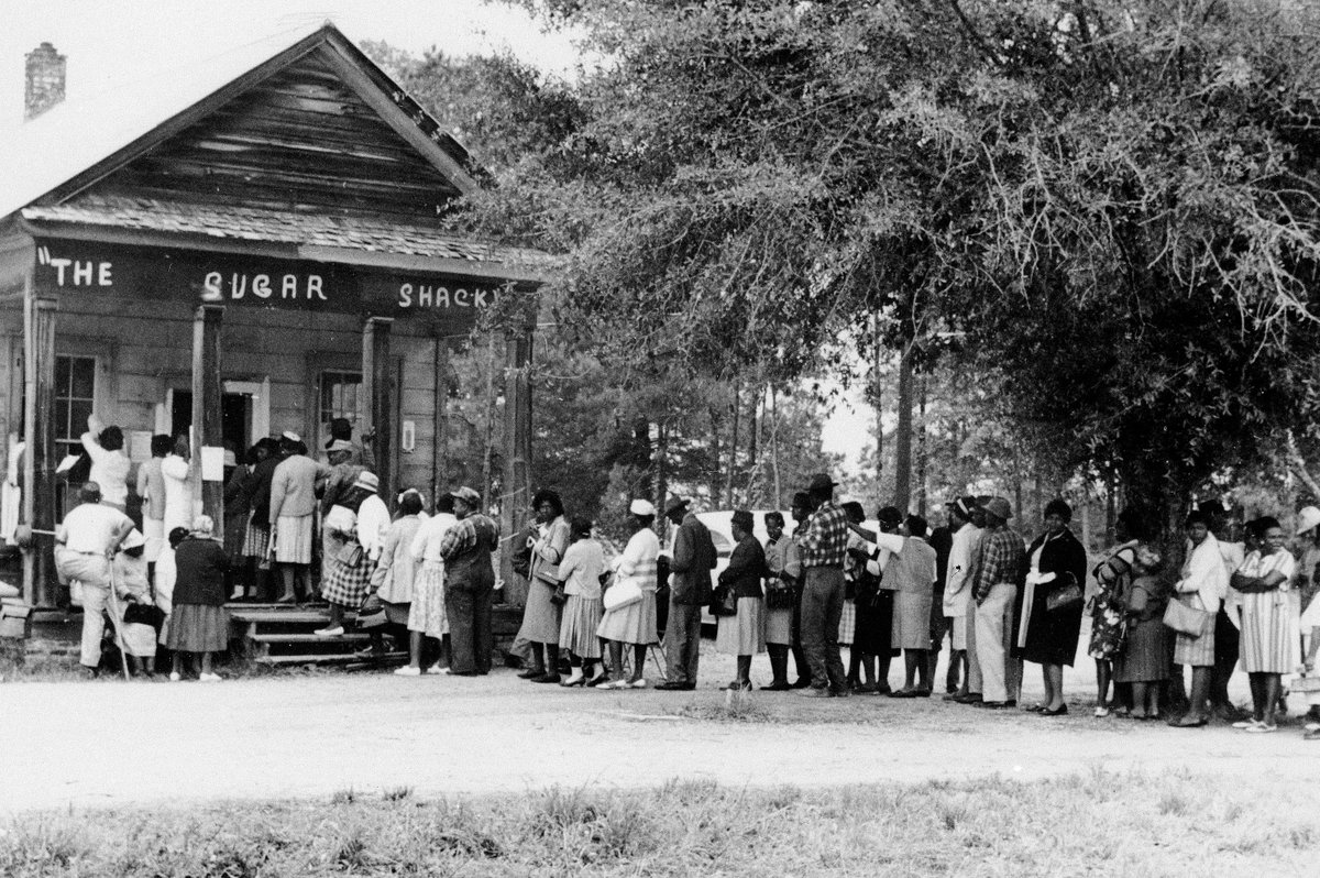 Voters in Alabama, one year after 1965 passage of  Voting Rights Act. #TuesdayTrivia  <br>http://pic.twitter.com/pUKd2vb5kx