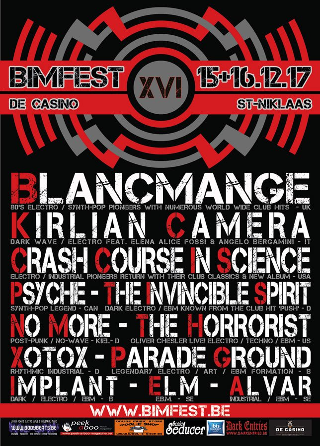 Not long to go now - Blancmange will be headlining BIMFEST this Saturday in Belgium. https://t.co/8tj7Hd2I1D
