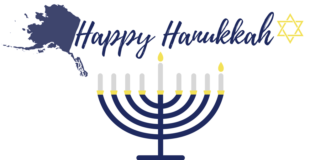 Tonight, the first candle on the on the menorah will be lit, reminding all of us how the Jewish community has spread their light around the world and to us here in Alaska. Happy Hanukkah to all!