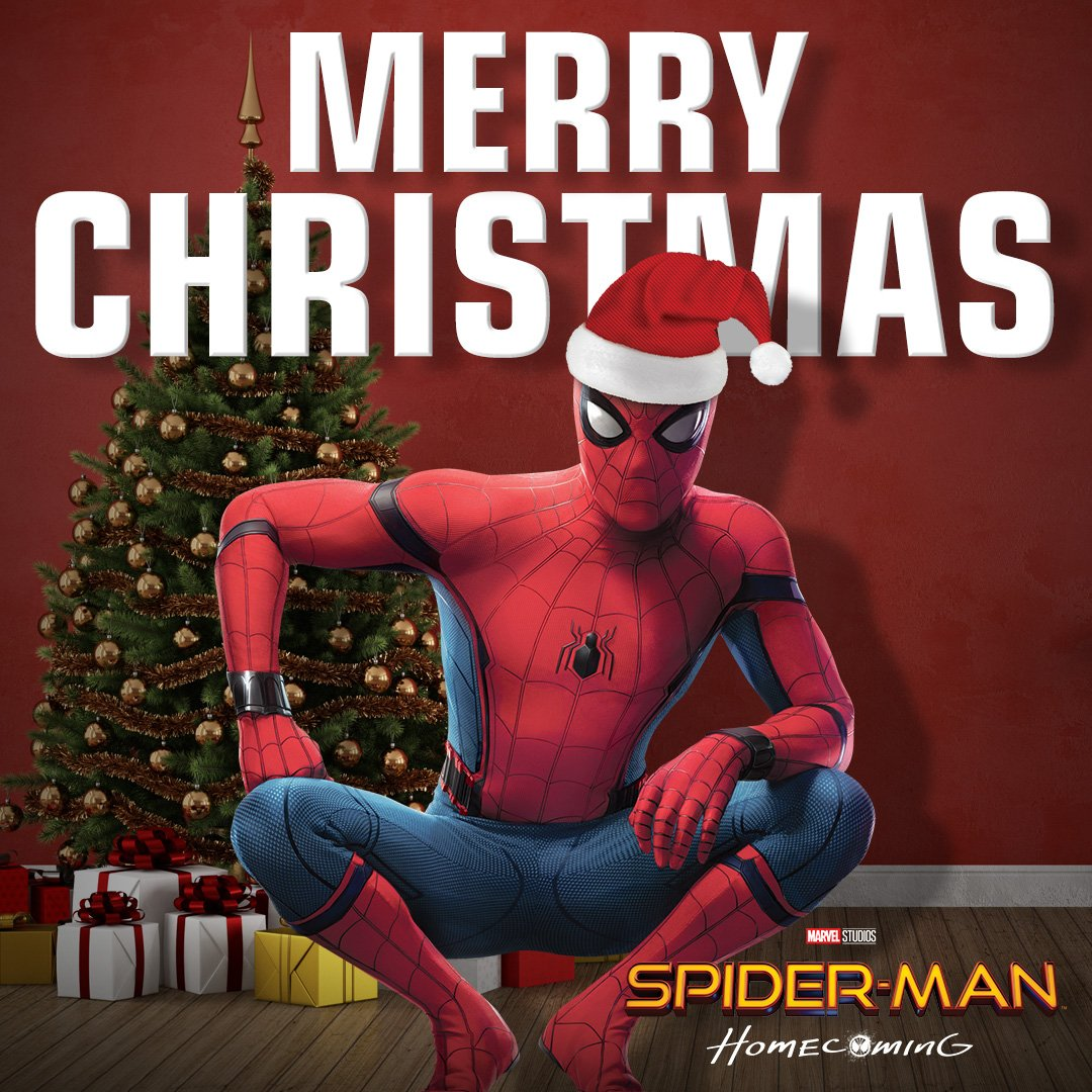 Spiderman Christmas.Spider Man Far From Home On Twitter Merry Christmas From