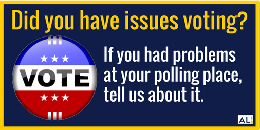 We've had a few folks contact us saying they weren't able to vote this morning. If you experienced this, tweet to our reporter , who is looking into issues at polling places around the state.