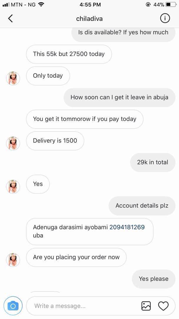 Online scammer scams