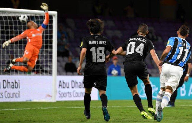 O gol de Grêmio 1x0 Pachuca:  ⚽ Éverton...