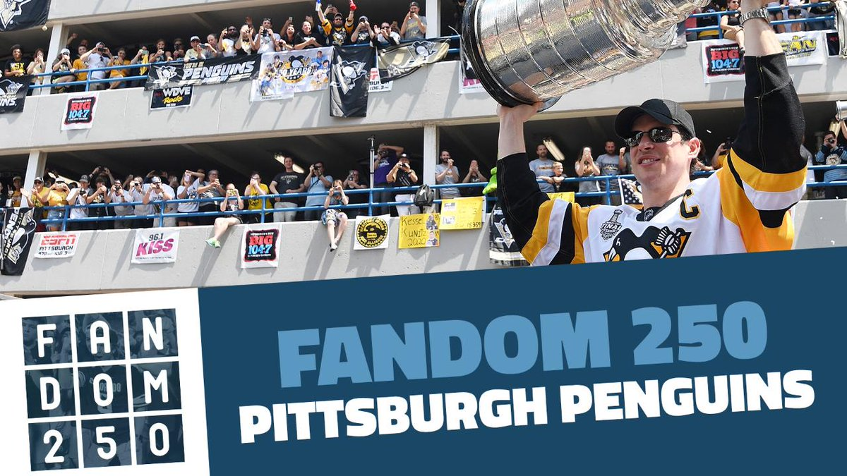 Our fans = best fans.  Penguins fans ranked No. 1 in the NHL (and 14th overall) in the @FanSided #Fandom250 list: https://t.co/JGxZJ7gBlV