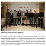 Image for the Tweet beginning: Ink Protocol's South Korea meetup