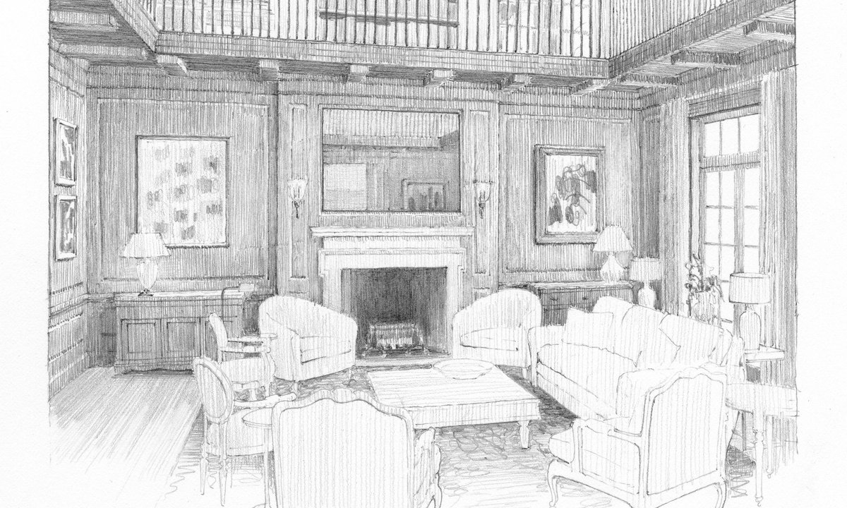 Classicistorg Calendar Courses Rendering The Architectural Interior In Pencil Drawing Drawingclass Pencildrawingpictwitter