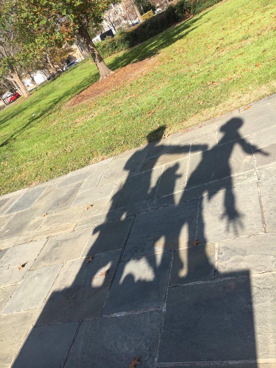Shadow from a statue in Kelly Ingram Park in Birmingham, AL today