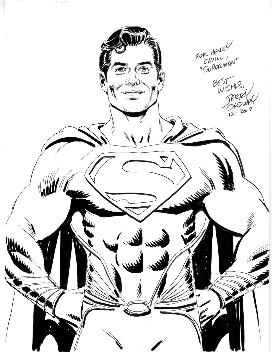 Here's the art I gifted to Henry Cavill...
