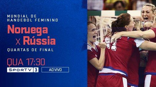 Jogaço no Mundial de Handebol!  Acompanhe Noruega e Rússia nesta quarta às 17:30, ao vivo, no SporTV3! #MundialDeHandebolNoSporTV
