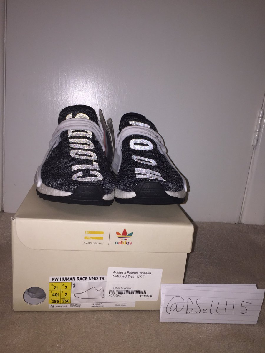 4db85a833 Pharrell Williams X Adidas Human Race NMD Trail UK7 US7.5 Oreo Black White  Brand New Original box   Tags 100% Authentic £370  490 Cheaper than GOAT DM  ...