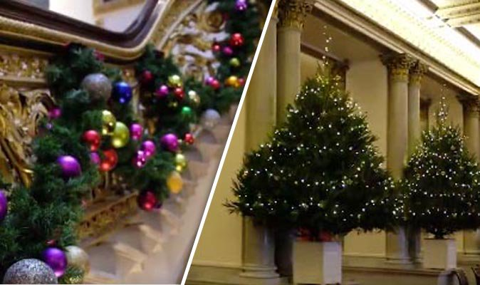 Stunning photos reveal first look at Buckingham Palace Christmas decorations https://t.co/xWRYRx7jrd