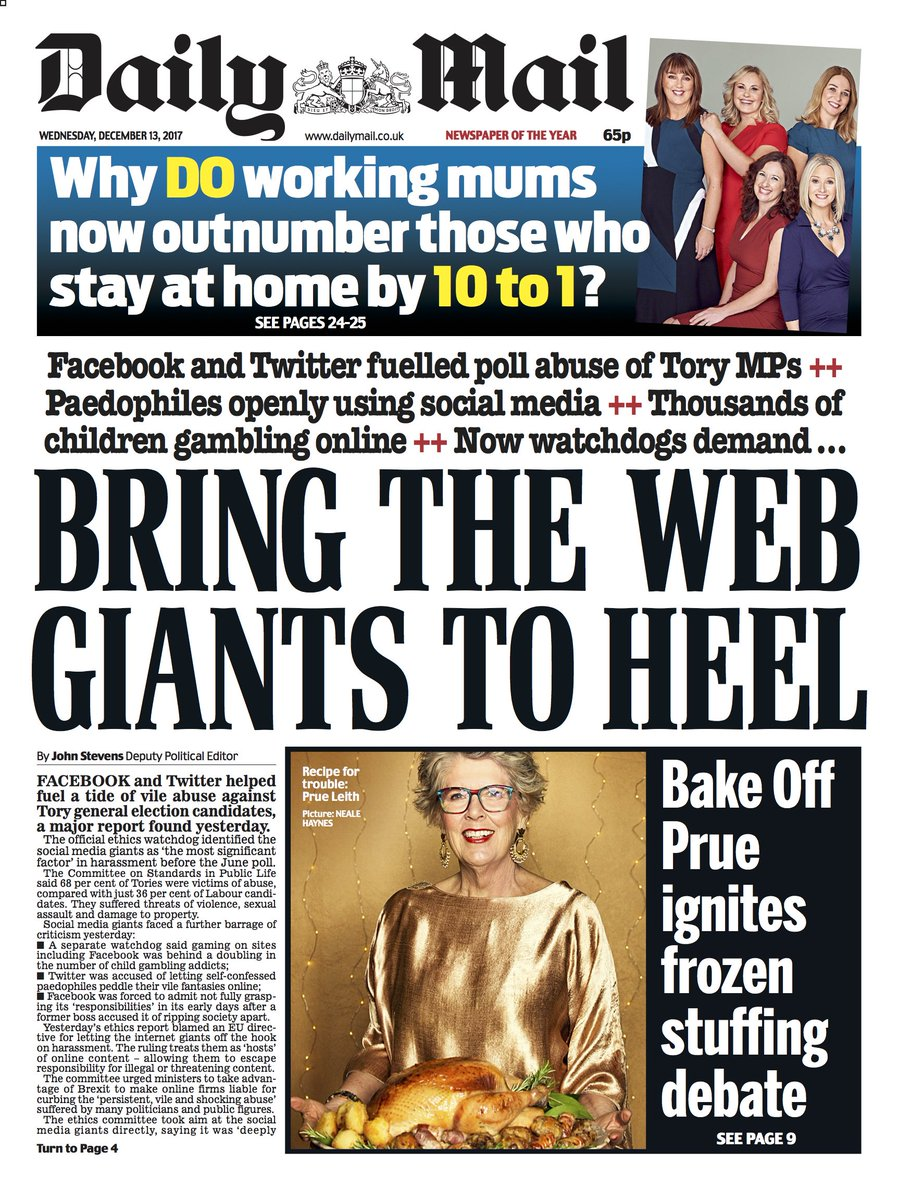 Wednesday's @DailyMailUK #MailFrontPages