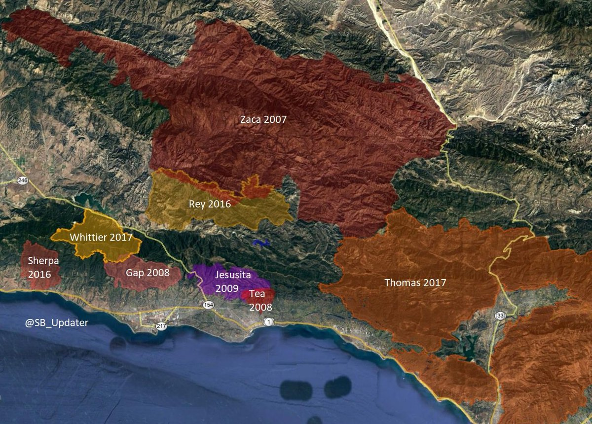 Sb Updater On Twitter Added The Thomas Fire To My Sb Fire Map