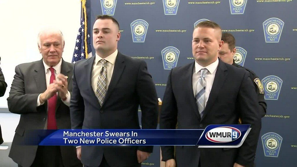 Manchester police swears in two new officers https://t.co/NlPlSAH9r3