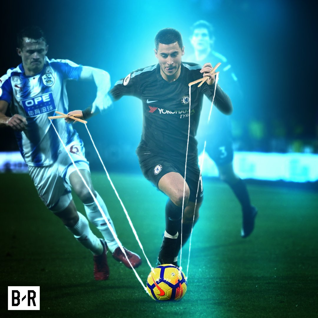You can have the ball, but only when Eden Hazard wants you to have it. 🎩
