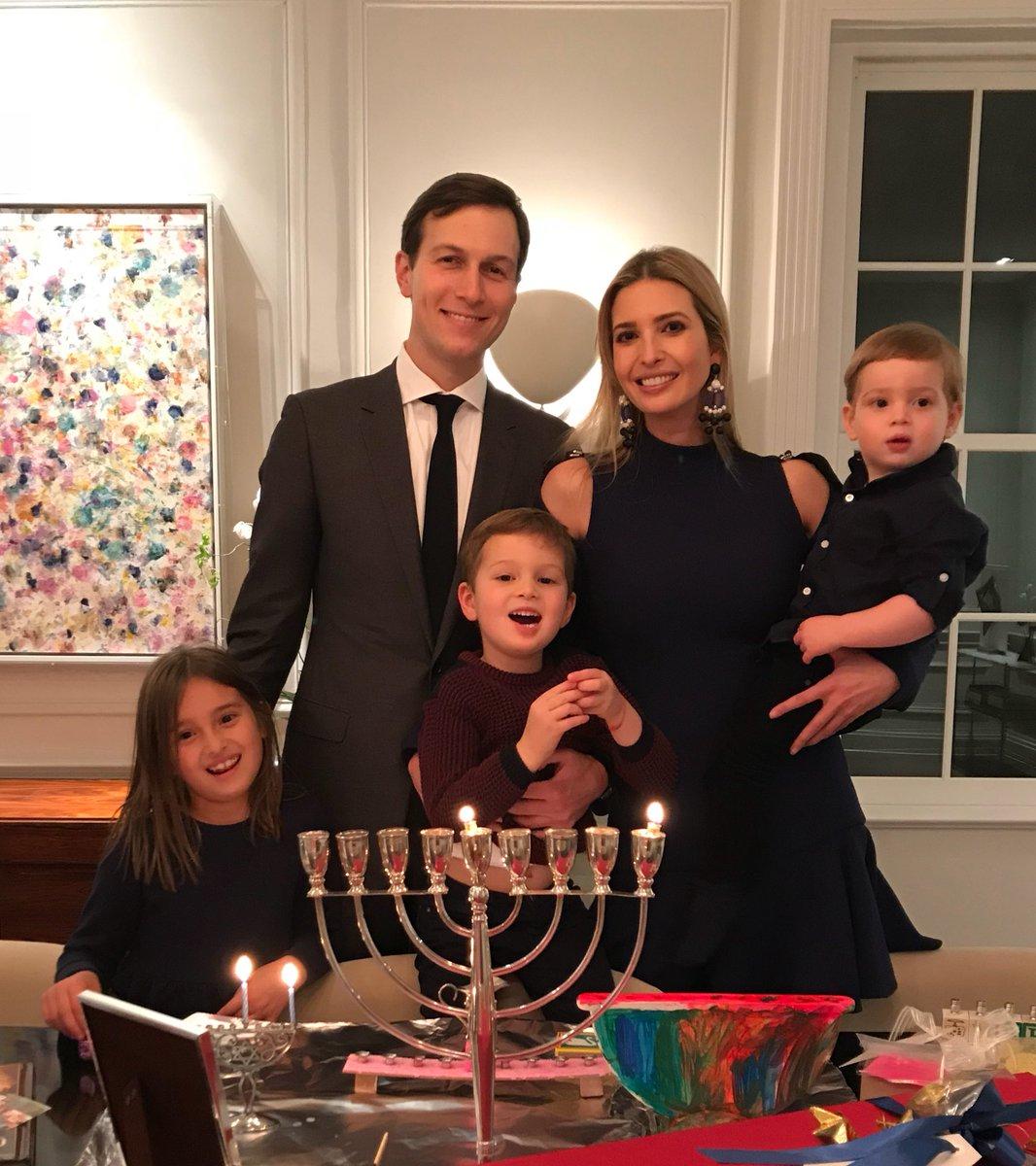 RT @IvankaTrump: Happy Chanukah!  #1stNight #HappyChanukah https://t.co/QF07wPA84B