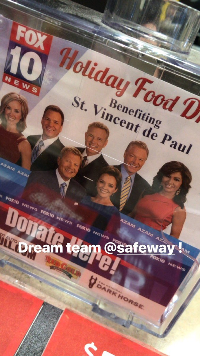 Dream team spotted @Safeway help @SVdP in Phoenix..#giveback #christmas #holidaydrive