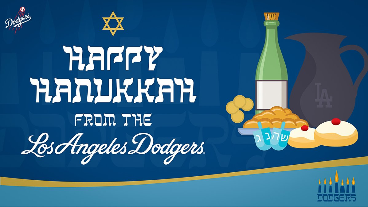 Happy Hanukkah from the Los Angeles #Dodgers!